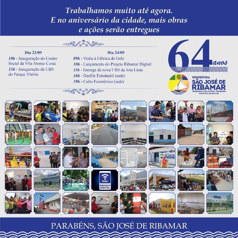 Prefeitura comemora aniversário de São José de Ribamar com entrega de novas obras