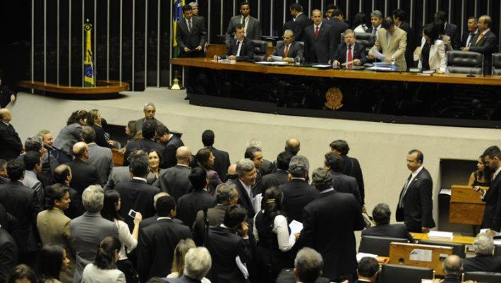 Brasília - Presidente da Câmara, Marco Maia, no plenário da Câmara, que inicia discussão e votacao do Código Florestal com as alterações propostas pelo deputado Paulo Piau