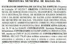 Microempresa recém-criada vai faturar R$ 2,6 milhões na Prefeitura de Balsas