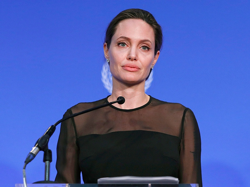 UN Peacekeeping Defence Ministerial 2016. UN Special Envoy Angelina Jolie speaks during the UN Peacekeeping Defence Ministerial at Lancaster House in London. Picture date: Thursday September 8, 2016. See PA story DEFENCE Peacekeepers. Photo credit should read: Adrian Dennis/PA Wire URN:28573268