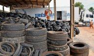 Para reforçar ações de saúde, Prefeitura já recolheu este ano nove toneladas de pneus inservíveis