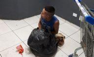Preso tenta fugir da cadeia disfarçado de saco de lixo