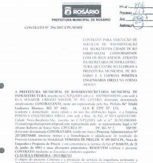 Suposto namorado da filha da prefeita é beneficiado com contratos em Rosário