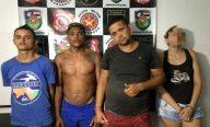 Polícia fecha boca de fumo, prende quatro pessoas e apreende drogas, em ITZ