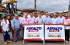 """Vereadores prestigiam chegada do """"Asfalto na Rua"""" à zona rural"""