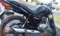 Casal suspeito de assaltos é preso após sofrer acidente com motocicleta