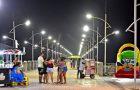 Gestão do prefeito Edivaldo requalifica iluminação do Espigão Costeiro da Ponta d'Areia